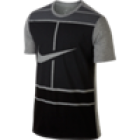Nike Herren Court Dry T-Shirt schwarz grau